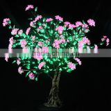 MOQ 10pcs green and pink flower tree led light source, artificial 1.8M height christmas tree