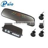 Radar Detection Parking System Beeper Alarm Reverse Sensor LED Display Radar System with 4 Sensors