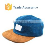 Cheap Custom Blank Corduroy 5 Panel Cap Hats Wholesale/Navy Blue Corduroy 5 Panel Cap /Custom Corduroy 5 Panel Camp Hat
