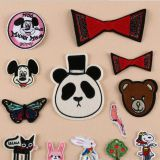 Wholesale promotion cheap custom national iron on patches embroidery