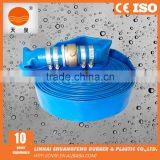 agriculture farming hose pvc lay flat hose c/w pin lug couplings for water discharge pump