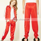 Custom Made Wholesale OEM Service Casual Sports Girls Kids Clothing 100% Polyester Red Top Design Tracksuit