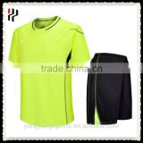 Custom Design Newest Hot Selling High Quality Yellow Blue Soccer Jersey With Sublimation Printing
