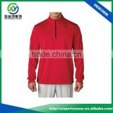 Best quality mens red color with zip design gym hoodie 100% blank polyester pullover windbreaker