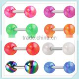 Acrylic Tongue Ring Barbells Industrial Earrings China Body Jewelry Wholesale