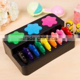 Creative 12 color children's snowflake shape crayon kids educational painting toys