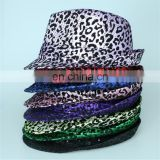Factory price bling bling LED lighted sequin fedora jazz hat for party bar fun
