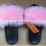 2017sexy summer slippers,Fur slippers fox fur shoes summer and autumn slippery home Slippers for women