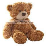 Stuffed Promotional Baby Christmas Teddy Bear meet for EU standard ,high quality with ribbon