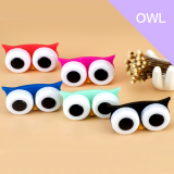 Cartoon Owl Cute Travel Storage Soak Kit Holder Box Contact Lens Case