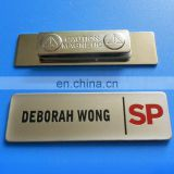 2017 rectangle shape soft enamel metal magnetic name badge