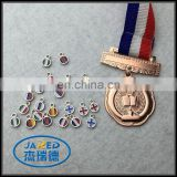 custom cheap zinc alloy medal with epoxy