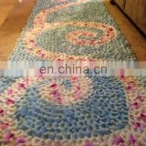 Blue & White Silk Rose Petal Aisle Runner