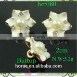 2cm small size rhinestone flower button,crystal flower button