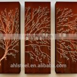 Decorative Outdoor Floding Screens Corten Steel Wall Panel