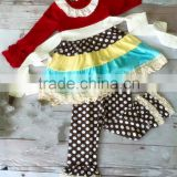 New design kids clothing children ruffle pants set children's boutique clothing