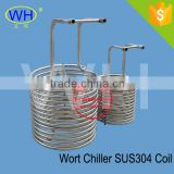 Wort Chiller unit 304 stainless steel immersion coil heat exchanger