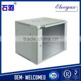 9U W600*D450mm/transparent glass door network server rack/WCB09-645/wall mount locking cabinet