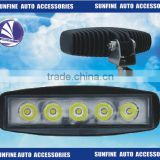 5.7 INCH DC10V-30V 15W LED downlight flood beam Work Light Offroad fire engine taxi sports car