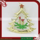 Christmas Tree Decoration In Gold Christmas Tree Design Candle High Quality Hanging Christmas Ornaments