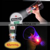 2014 hot led projector logo cup/flashing glass for gift