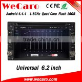 "Wecaro 6.2"" WC-2U6400 Android 4.4.4 car stereo in dash 1 din car dvd player android tv tuner"