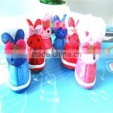 PU Material Winter Cartoon Rabbit Pet Shoes Dog Shoes Pet Supplies for Teddy & Pomeranian