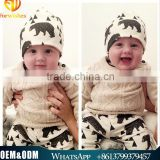 Ins Hot Selling Children Autumn & Winter Baby Headwear Toddlers Baby Fashion Printing Soft Cotton Hats