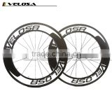 Velosa logo Straight Pull 88mm Clincher Road Carbon Bike wheels Racing Bicycle carbon Wheelset Bitex R51 Hubs fast shipping!