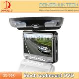 "Hot selling universal 9""roof mount dvd auto overhead monitor"