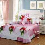 New Design Elegant Flower Printing Colorful Bed Set                                                                         Quality Choice