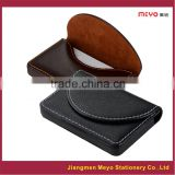 Custom Company Logo PU leather business card holder, business name card wallet                                                                         Quality Choice