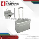 Silver Aluminum Wheeled Briefcases