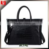 High quality men genuine crocodile leather briefcase leather briefcase business card holder