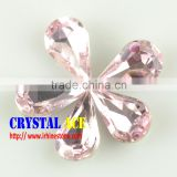 Teardrop shape stone fantastic glass stone crystal jewelry stone for garment accessories