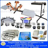 Manual desk top 4 color 2 station DIY screen printing machine and full screenprinting supplies