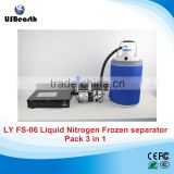 FS-06 liquid nitrogen frozen lcd separator 3 in 1 pack with oil-free pump with 10L liquid nitrogen tank 220V