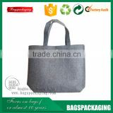muslin grey felt tote handle shopping bag for ladies