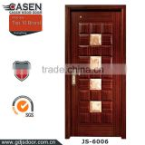 american wood door with marble stone decoration building supply doors hot sale in guangzhou
