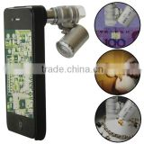 60X Zoom LED Cellphone Microscope Magnifier Camera Lens For iPhone 4S 4G