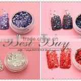 color acrylic nail powders