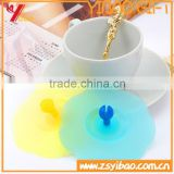 Food grade transparent silicone cap/flower shape mug cup lid