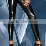 2013 girls black sexy leather leggings