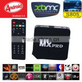 Hot Sale Ott TV Box MX Pro Support Bluetooth MX Pro Amlogic S805 H.265 Wifi 4K Quad Core Android TV Box