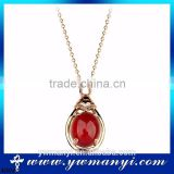 hot promotion Buy wholesale bling rhinestone color ruby thin gold chain necklace designs N0041