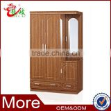 2014 new arrival bedroom MDF wardrobe design wood clothes cabinet mirror closet wardrobe