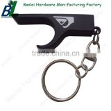 Matt black logo printed keychain bottle opener for event souvenirs