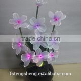 Hotest New Design wholesale artificial LED flowers light/fiber optic Orchid flowers lamp with pot