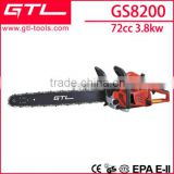 82 cc big power stroke chainsaw wooden saw gasoline chain saw GS8200                                                                         Quality Choice
