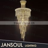 2015 chinese lighting factory-outlet hot sale beautiful crystal pendant light fixture modern empire crystal chandelier